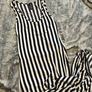 Striped Maxi with Side Slit
